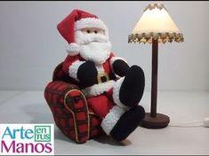 Arte en Tus Manos con Lili y Sam: Lampara para Santa Claus, con material reciclado, ...