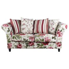 Beautiful #romantic two seater #floral #sofa! www.inart.com Romantic Home Decor, Romantic Homes, Floral Couch, Vintage Interior Design, 2 Seater Sofa, Shabby Cottage, Shabby Chic Style, Corner Sofa, Home Living