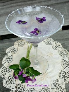 Fresh Eggs Daily®: The Incredible Edible Violet - Homemade Violet Soda