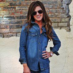 The Dallas | Wild Bleu Denim shirt with Western Yoke