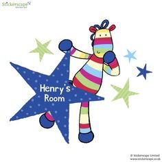 Personalised stripy horse wall sticker