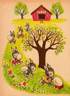Children's Book Illustration by Russian Artist Vera Pavlova | Art ... Easter Art, Easter Crafts, Easter Bunny, Vintage Cards, Vintage Postcards, Vintage Images, Easter Season, Easter Parade, Vintage Easter