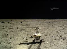 Yutu portrait taken by the Chang'e-3 lander on Dec. 22, 2013.  China's 1st Moon rover 'Yutu' embarks on thrilling adventure marking humanity's first lunar surface visit in nearly four decades.  Credit: Chinese Academy of Sciences