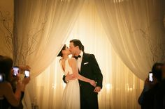 First kiss during wedding at Thompson Chicago