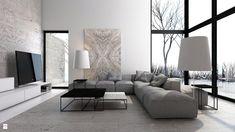 Salon styl Minimalistyczny - zdjęcie od A2 STUDIO pracownia architektury - Salon - Styl Minimalistyczny - A2 STUDIO pracownia architektury