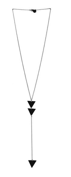 Triangle Drop Necklace Matte Black | Accessory Foundry