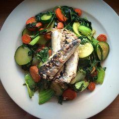 Sardine Salad made with Wild Planet sardines.