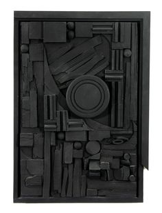 Louise Nevelson | City-Sunscape, 1979 | Polyester-resin with black enamel, Edition: 49/150