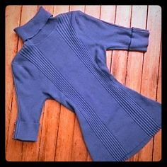 Blue turtleneck sweater Stretchy blue turtleneck. Size M. Worn only a few times. Sweaters