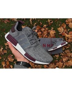 bb88a7ea37723 Cheap Adidas NMD Grey Wool Maroon Pack Dark Purple Trainers all reduced by  discount and free postage