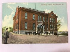 1912 Woodbury School, Marshalltown, IA postcard