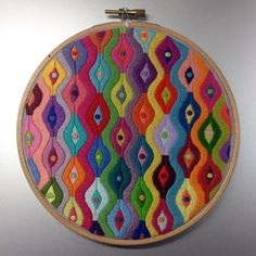 """Finally, finally finished this 6"""" hoop! I lost count of the hours a long time ago..... #embroidery #handembroidery #stitch #stitching #handstitching #sew #sewing #handsewing #handsewn #satinstitch #colour #color #allthecolours #hoop #hoopart #embroideryart #handmade #madebyme #diy #decoration #etsy #etsyshop #etsyseller #thegrumpycrafter #embroideryinstaguild"""