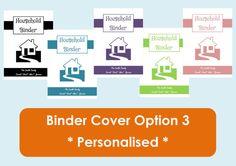 Binder Cover and Spine Printables - Home Organisation - Household Binder - 3 sheets. $3.00, via Etsy.
