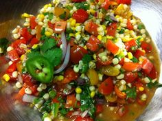 Hitting the farmer's market tomorrow? This corn and tomato salsa may be right up your alley!