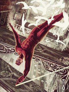 Demolidor - By Max Bertolini Marvel Comic Books, Comic Book Characters, Comic Books Art, Comic Art, Book Art, Marvel Actors, Marvel Heroes, Marvel Dc, Marvel Comics