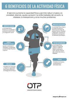 El ejercicio aumenta la capacidad física y permite reducir el peso y la ansiedad. Además, ayuda a prevenir las enfermedades del corazón, la diabetes, la osteoporosis y otros muchos problemas.