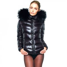 Superwarm black puffer jacket from WeLoveFurs. Made from top quality goose down filling and finished with an oversized finnraccoon fur trim on the hood. Puffer Jacket With Fur, Down Puffer Coat, Puffy Jacket, Bomber Jacket Men, Down Coat, Puffer Coats, Non Plus Ultra, Shiny Leggings, Fur Collars