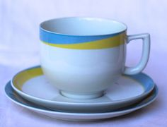 Arzberg Germany fine porcelain trio for a by modernlookvintage