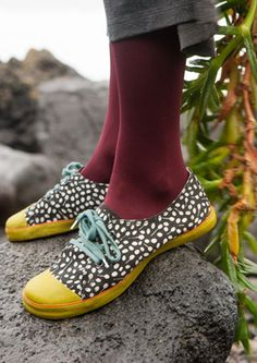 """Berberis"" cotton twill sneakers. GUDRUN SJODEN"