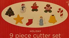 9 Pc Holiday Cookie Cutter Set #Unbranded