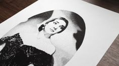 Maria Callas Pen Pointillism