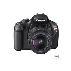 Canon EOS Rebel T3 12.2MP Digital SLR Camera with 18-55IS Lens - Black ($430) ❤ liked on Polyvore featuring electronics, camera and home