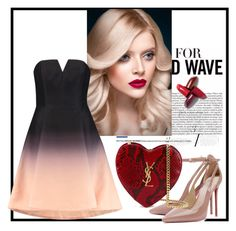 """""""-"""" by ermansom ❤ liked on Polyvore featuring Halston Heritage and Yves Saint Laurent"""