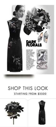 """LIGHT! Florals in the dark"" by alevalepra ❤ liked on Polyvore featuring CO, Miu Miu, Helmut Lang and darkflorals"