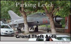 Funny pictures about Parking your jet like a boss. Oh, and cool pics about Parking your jet like a boss. Also, Parking your jet like a boss photos. Gta Funny, Funny Memes, Grand Theft Auto, Really Funny Pictures, Funny Pics, Sad Pictures, Aviation Humor, Gaming Memes, Gta 5