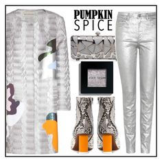 """""""Silver Coat"""" by skad183 ❤ liked on Polyvore featuring Mary Katrantzou, Étoile Isabel Marant and Bobbi Brown Cosmetics"""
