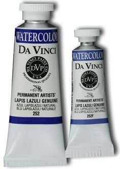 Da Vinci Artists' Watercolor Paint: Lapis Lazuli Genuine, 37 ml Tube