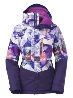 21156680a97b The North Face NFZ Print Jacket - Women s  Charge fresh lines in the  no-fall zone with this technical