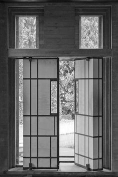 Door detail of Carlo Scarpa's Tomba Brion.