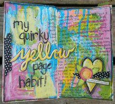 Altered book art journal