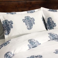 Roma Paisley Cotton Sateen 300 Thread Count 3-piece Duvet Cover Set | Overstock™ Shopping - Great Deals on Duvet Covers