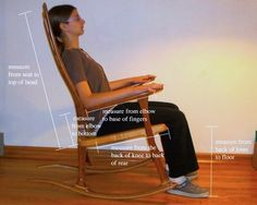 Adult Rocking Chairs Need Your Correct Measurements to Fit. Here's How Its Done.