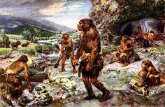 The Neanderthal Encampment - by Zdenek Burian 1960