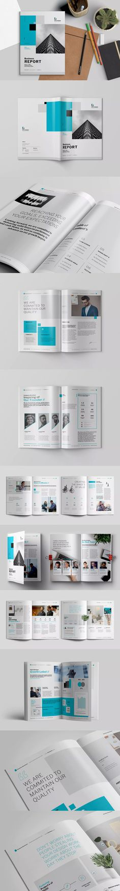 Blue Company Brochure Brochure template, Letter size and Brochures - profile company template