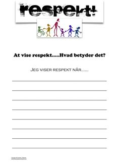 Hvordan viser du respekt Coping Skills, Social Skills, Classroom Management, Behavior, Education, School, Danish Language, Respect, Grammar