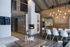 We all know that best ski resorts are in Alps or Pyrenees and best mountain homes are French or Swiss chalets. But do not forget the Scandinavians has ✌Pufikhomes - source of home inspiration Chalet Design, Cabin Design, Scandinavian Cottage, Chalet Interior, Modern Mountain Home, Mountain Homes, Wooden Cottage, Cottage Interiors, Cabin Homes