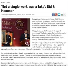 """""""Not a single work was a fake"""" Auction, Facts, Truths"""