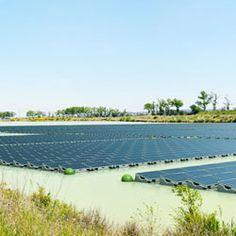 Solar Energy Farm Floats on Reservoir