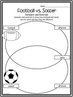 compare and contrast essay soccer to football 'baseball is what we were football is what we have become' (mary mcgory) both baseball and footbal.