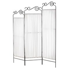 """Ekne, Room Divider.  @Ikea $39.99 . Width: 53 1/8 """"Height: 63 3/8 """" 2 of these together could be a good economical back drop for the """"line"""" in a simple reception or open house? And fold up to use later as a room divider"""