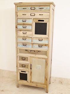 Distinctive Vintage Industrial Chic Multi Drawer Tall Chests   £259