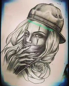 Explore best chicanotattoo art on DeviantArt Sugar Skull Girl Tattoo, Girl Face Tattoo, Face Tattoos, Hot Tattoos, Body Art Tattoos, Girl Tattoos, Tattoos For Guys, Tattoo Designs Foot, Angel Tattoo Designs