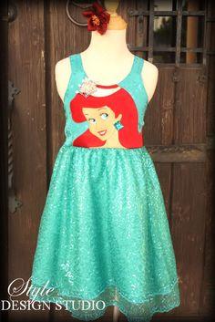 Disney Ariel Semi Formal Party Dress Cruise Sizes 2 - 10