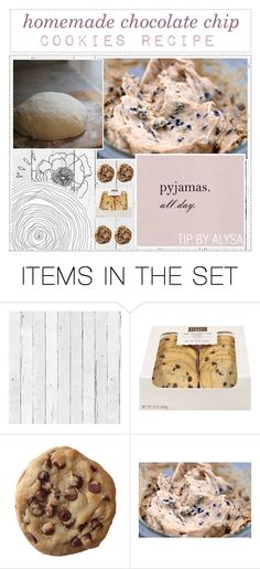"""""""23. homemade chocolate chip cookies recipe"""" by botanical-tips ❤ liked on Polyvore featuring art and alysastips"""