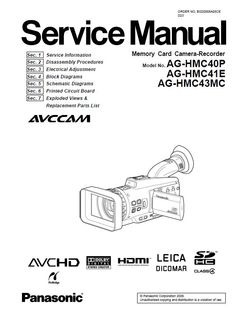 52 Best Panasonic Camcorder Service Manual images in 2020