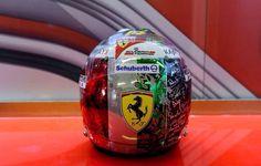 Fernando Alonso - Final Ferrari Helmet - Abu Dhabi 2014